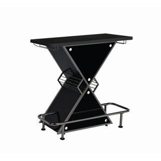 Contemporary Stacked Triangle Bar Unit