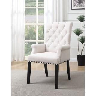 Weber Traditional Smokey Black Upholstered Armchair