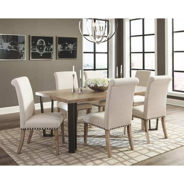 Shop Coaster Taylor Beige Upholstered Parson Dining Chair ...