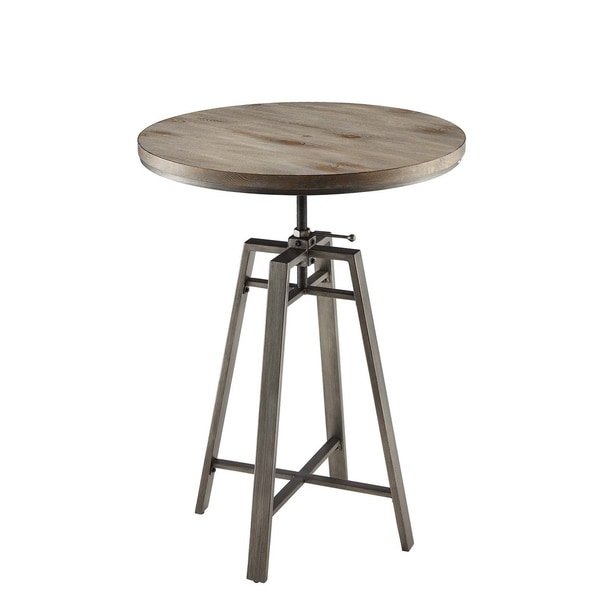 Shop industrial adjustable height round bar table on sale free industrial adjustable height round bar table watchthetrailerfo
