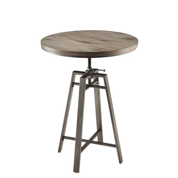 Excellent Shop Industrial Adjustable Height Round Bar Table 35 X 32 Gamerscity Chair Design For Home Gamerscityorg