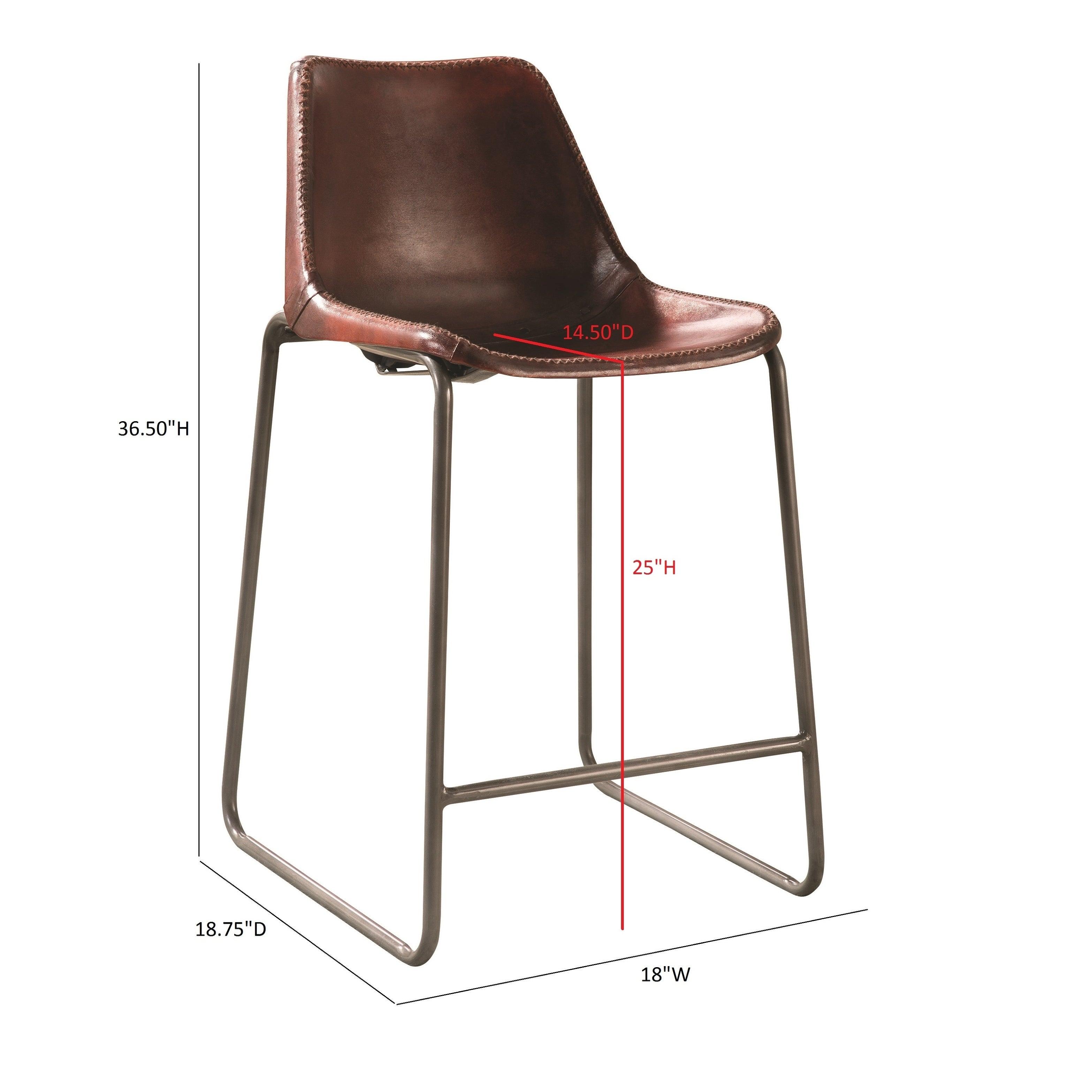 Groovy Antonelli Reddish Brown Counter Height Chair 18 X 18 75 X 36 50 Frankydiablos Diy Chair Ideas Frankydiabloscom