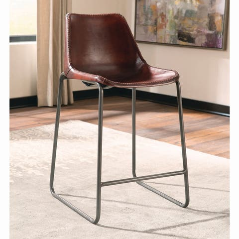 "Antonelli Reddish Brown Counter-height Chair - 18"" x 18.75"" x 36.50"""