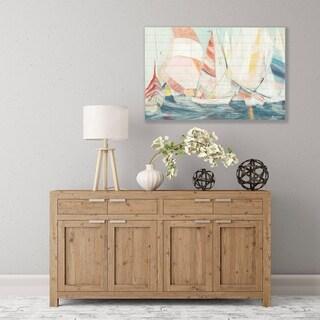 ArtWall's 'Rounding the Mark' Wood Pallet Art