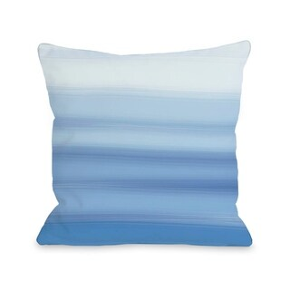 Ombre Watercolors - Blue  Pillow by OBC