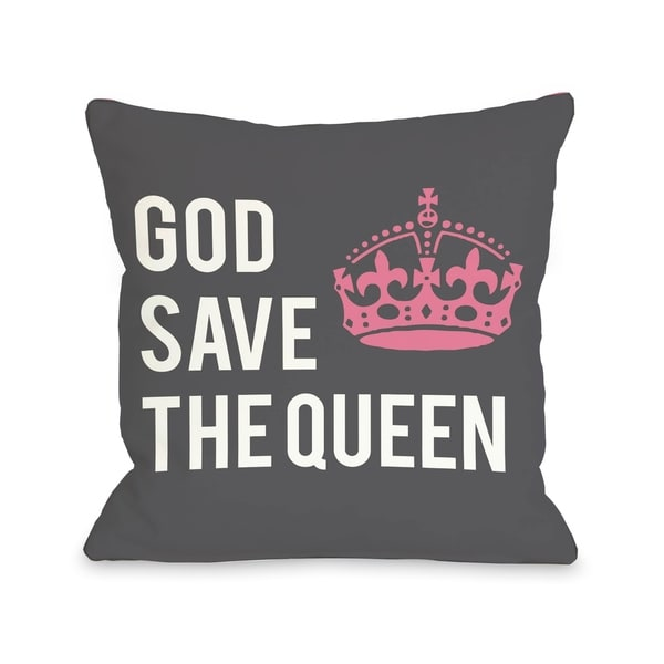 God Save The Queen Pillow by OBC