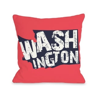 Washington State Type  Pillow by OBC