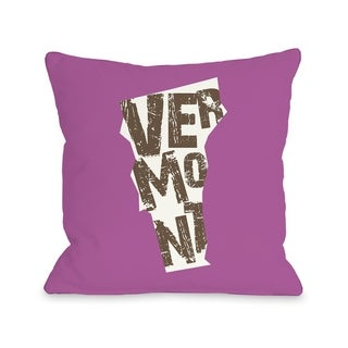 Vermont State Type  Pillow by OBC