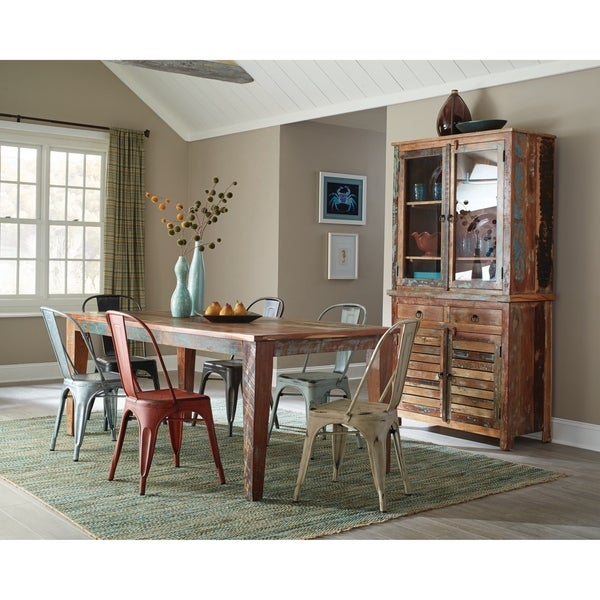Shop Keller Rustic China Cabinet With Louvered Doors Free Shipping