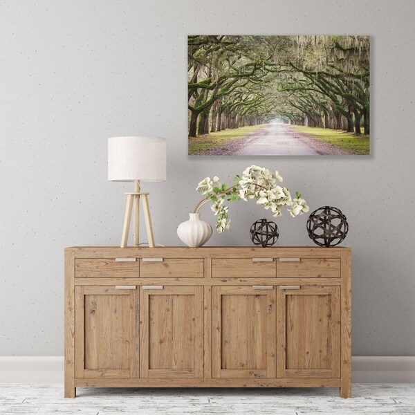 ArtWall's 'Oak Trees With Spanish Moss In Savanna Georgia' Wood Pallet Art