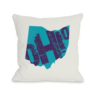 Ohio State Type  Pillow by OBC