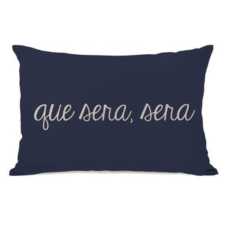 Que Sera Sera Geometric 14x20 Pillow by OBC