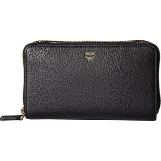 MCM Milla Double Zip Black Wallet Crossbody