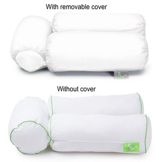 Sleep Yoga 2-Pack Pillow Cover Case for Multi-Position Body Pillow - Hypoallergenic, Machine Washable - White 2PK
