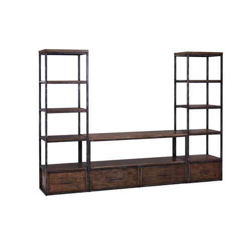 Lane Black and Warm Brown Pier Tower/Bookcase