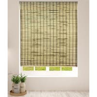 Arlo Blinds Rustique Cordless Lift Bamboo Roman Shades with 60 Inch Height