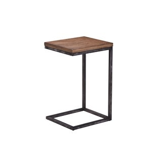 Lane Charcoal and Brown Chairside Table