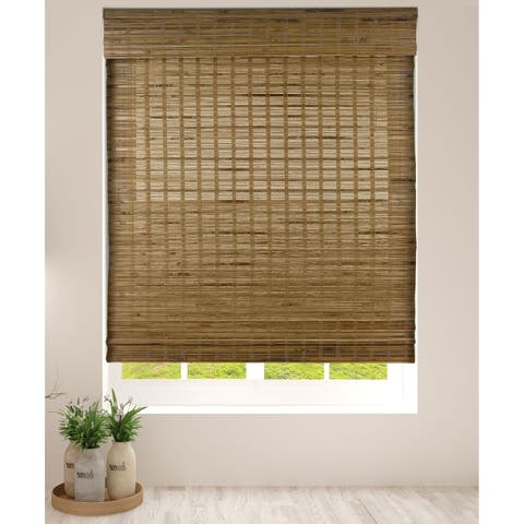 Arlo Blinds Dali Native Cordless Lift Bamboo Roman Shades