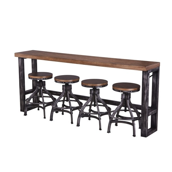 Shop Lane Charcoal And Brown Sofa Bar Table Ships To Canada