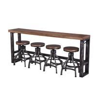 Lane Charcoal and Brown Sofa Bar Table