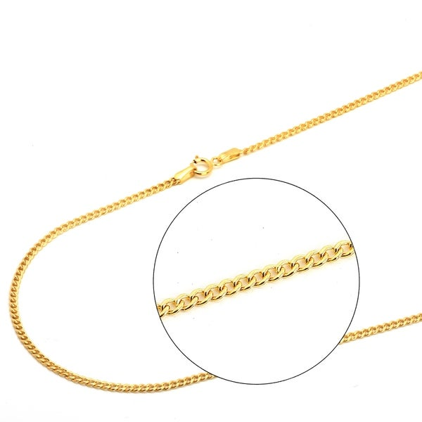 4da8a84cc Shop Pori Jewelers 18K Solid Gold Cuban Chain necklace BOXED - On Sale - Free  Shipping Today - Overstock - 22158834