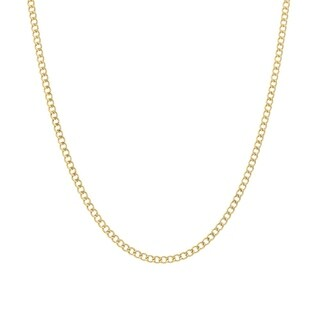 Pori Jewelers 14K Solid Gold 2.5MM Cuban Chain Necklace BOXED