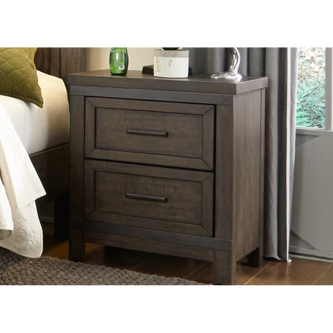 Thornwood Hills Youth Rock Beaten Grey 2-drawer Night Stand