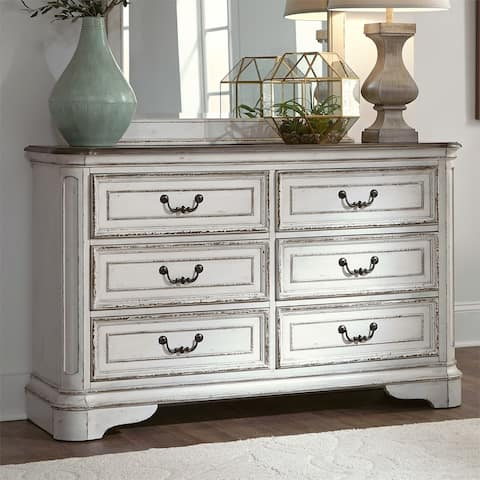 Magnolia Manor Antique White 6-drawer Dresser
