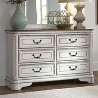 Magnolia Manor Youth Antique White 6-drawer Dresser
