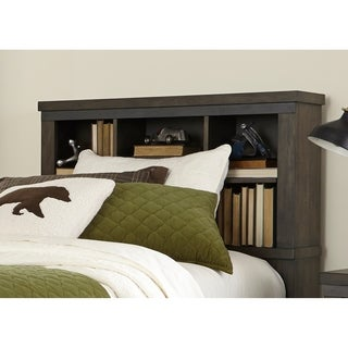 Thornwood Hills Youth Rock Beaten Grey Full Bookcase Headboard