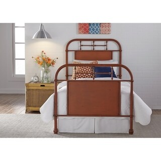 Vintage Series Youth Distressed Metal Orange Twin Metal Bed