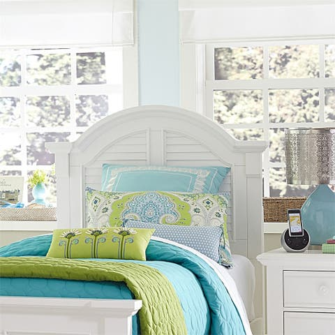 Summer House Youth Oyster White Twin Panel Headboard