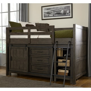 Thornwood Hills Youth Rock Beaten Grey Twin Loft Bed