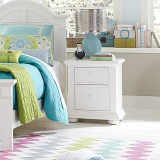 Summer House Youth Oyster White 2-drawer Night Stand