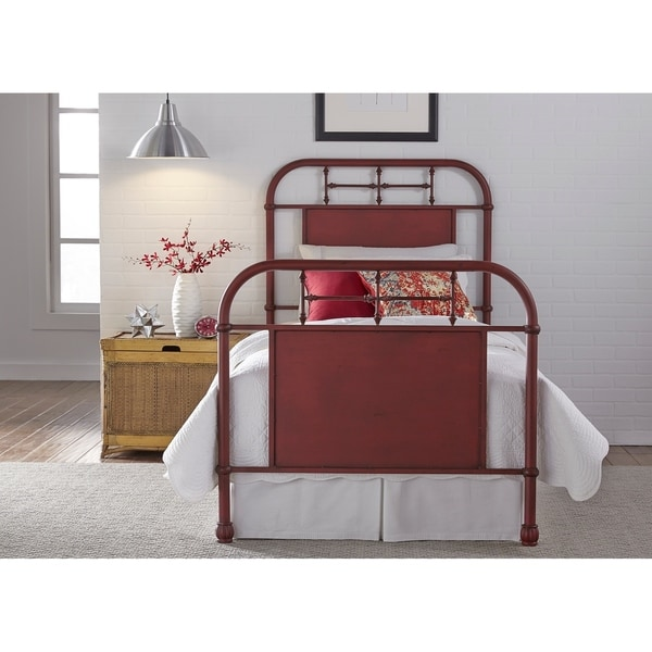 feaba98d350d Shop Vintage Series Youth Distressed Metal Red Full Metal Bed - On Sale -  Free Shipping Today - Overstock.com - 22159054