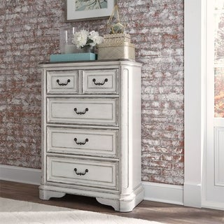 Magnolia Manor Youth Antique White 4-drawer Chest