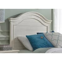 Bayside Youth Heavy Wire Brushed Antique White Twin Panel Headboard