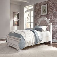 Magnolia Manor Youth Antique White Twin Upholstered Panel Headboard