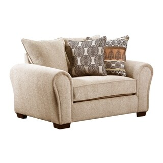 Lane Comfort Plush Outback Taupe Chair and a Half