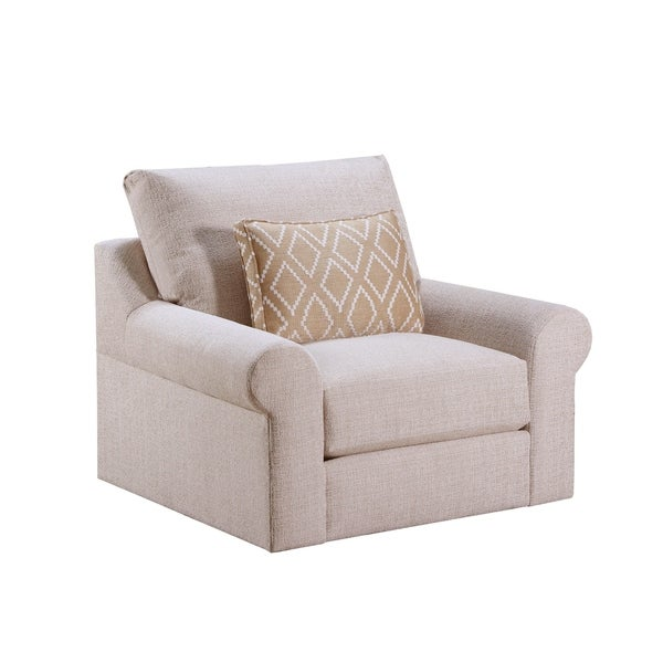 Shop Lane Luxe Seating Pompeii Snow Swivel Chair Free