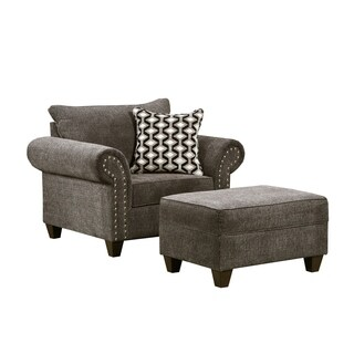 Simmons Upholstery Reed Charcoal Storage Ottoman