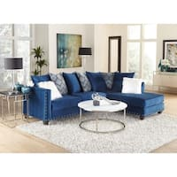 SofaTrendz Dakota Contemporary Sapphire Blue L-shape Sectional