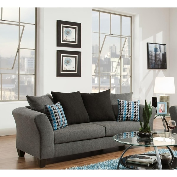 Sofatrendz Dustin Graphite Grey Sofa Free Shipping Today 22159981