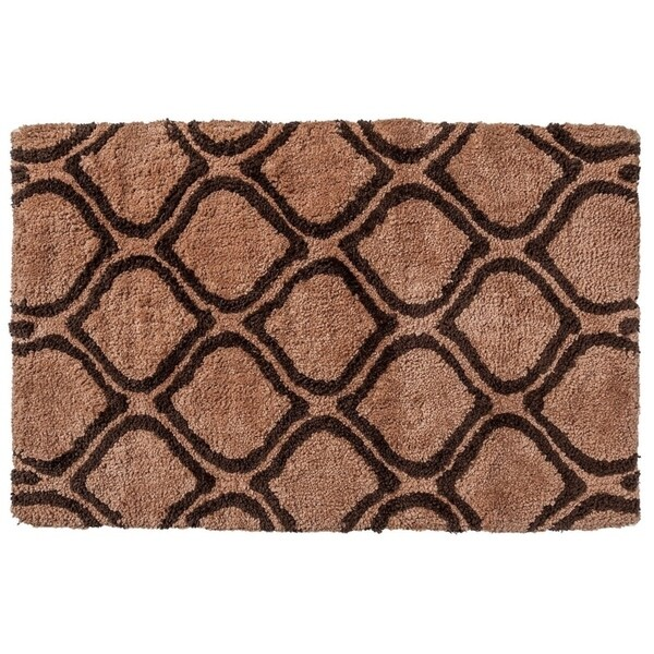 """Unbelievable Mats 18"""" x 30"""" Brown Handmade Cotton Bath Mat"""