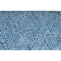 "Unbelievable Mats 18"" x 30"" Blue Handmade Cotton Bath Mat"