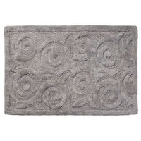 "Unbelievable Mats 18"" x 30"" Swirl Gray Handmade Cotton Bath Mat"