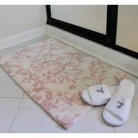 "Unbelievable Mats 18"" x 30"" Plush Pink Handmade Cotton Bath Mat"
