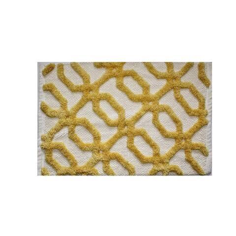 """Unbelievable Mats 18"""" x 30"""" Plush Yellow Handmade Cotton Bath Mat"""