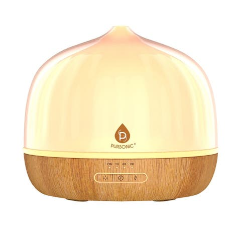 Pursonic AD500 Ultrasonic LED Essential Oil Diffuser & Essential Oils - Clear