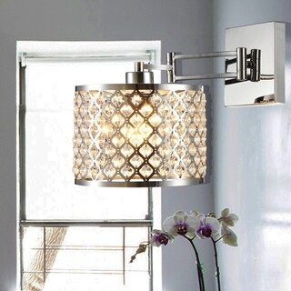 Prunella Chrome 1-Light Wall Sconce with Chrome shade